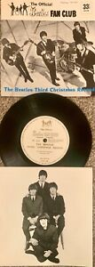 THE BEATLES THIRD CHRISTMAS RECORD (FLEXI 7'' SINGLE SIDED) WITH NEWSLETTER No 6