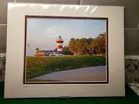 """""""Number 18 at the Heritage"""" (Golfing) Signed Matted 8x10 Photo Emory Minnick"""