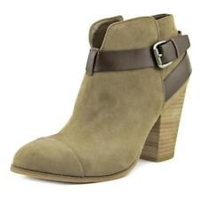 Botas de mujer de tacón alto (más que 7,5 cm) de color principal gris de lona