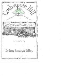 CRABAPPLE HILL INDIAN SUMMER PILLOW PATTERN #303
