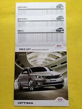Kia Optima 1 Officiel 2 papier brochure catalogue de vente septembre 2012 Comme neuf
