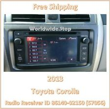 2013 Toyota Corolla AM FM CD Player Radio With Display Screen ID 57056 OEM