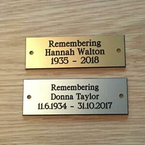 """Brass or Silver Effect Personalised Engraved  Plaque 75 x 25 mm (3""""x1"""")"""