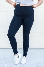 Maternity high waist leggings, post baby high waist black leggings, sizes 6-14