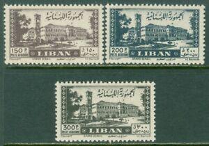 EDW1949SELL : LEBANON 1947 Scott #C126-28 High Values. VF, Mint NH. Catalog $90.