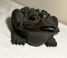 Chinese Feng Shui  bronze/metal Toad Wealth Sculpture( 金蟾招财) marked,L30cm