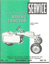 David Bradley Riding Tractor Service Manual Model No 91759101 1953 Reprint