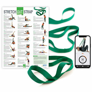OPTP Original Stretch Out Strap with Stretching Exercise Poster
