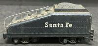 MANTUA: Santa-Fe BLACK COAL TENDER FOR STEAM LOCO. Die-Cast BASE VINTAGE HO