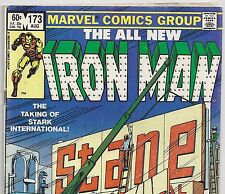The Invincible Iron Man #173 vs Stark Industries from Aug 1983 in Vg con. Dm