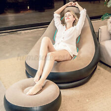 Large Inflatable Adult Bean Bag Flocked Beanbag Outdoor Indoor Garden Yard Chair
