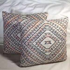 Bunglo Shay Spaniola Decorative Pillow Rectangle 20x20 Pair Retail $250.00 NWT