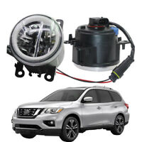 LED Fog Light + Angel Eye Rings Daytime Running Lights Fit For Nissan Pathfinder