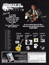 B.B. King 1993 Blues Music Festival 8 x 11 advertisement Buddy Guy Eric Johnson