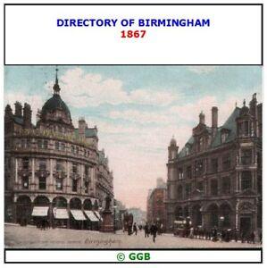 GENEALOGY POST OFFICE DIRECTORY OF BIRMINGHAM 1867 CD