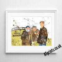 Only Fools and Horses Print Poster Watercolour Framed Canvas Wall Art Gift