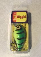 BRAD'S WIGGLER BW-113 BENGAL TIGER CRANK BAIT LURE PLUG BRADS NEW