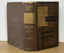 Life on the Mississippi Mark Twain 1st Ed. Later Printing 1883 Illustrated Worn