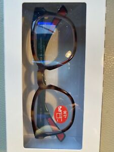 E-Specs Screen Oval Readers in Tortoise Brown +2.00 New!