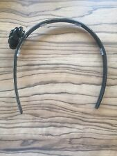 Black small flower Perspex hair band - from Fenwicks Newcastle - worn once