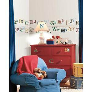 ALPHABET wall stickers 73 decals ABC Letters Animals scrapbooking stickups  Art