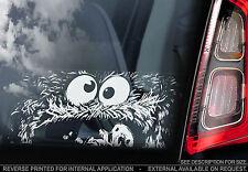 Cookie Monster-SESAMO APRITI Finestra Auto Adesivo-Muppets sbirciare caccone-NUOVO