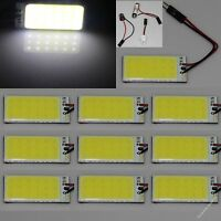 10 X White 18 chips COB LED Dome Light Panel Interior Bulb Lamp T10 Festoon 12V