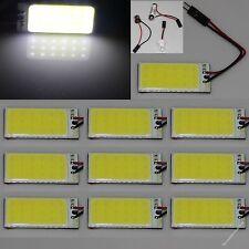 10 X White 18 chips Cob Led Dome Light Panel Interior Bulb Lamp T10 Festoon 12V