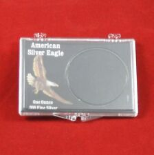 Snaplock Coin Cases Holders 1 oz American Silver Eagles, Black, 10 count