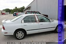 GTG 1994 - 1997 Honda Accord 4dr Sedan 4PC Chrome Stainless Steel Pillars Posts