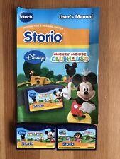 Vtech Storio 2 Games cartridges Dora the Explorer & Mickey Mouse Clubhouse