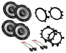 """NEW 6.5"""" KENWOOD CAR TRUCK FRONT & REAR DOOR SPEAKERS W/ MOUNTING INSTALL KITS"""