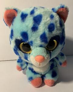 "Aurora World Yoohoo & Friends 8"" Plush Blue Spotee The Cheetah Stuffed Animal"