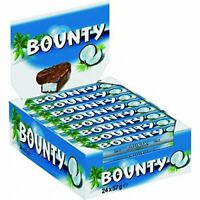 BOUNTY COCONUT MILK CHOCOLATE TWIN BAR 57G FULL BOX 24 BARS