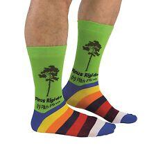 Cockney Spaniel Socks Pinus Rigida Pine Tree Green Striped Cotton Fun Men Gift