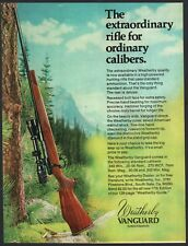 1974 WEATHERBY Vanguard Vintage Rifle Photo AD Collectible Advertising