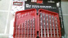 MIBRO 13 Piece Set High Speed Steel Drill Bits #241381 FREE SHIPPING