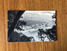 CARTOLINA CELLE LIGURE panorama LA SPIAGGIA VIAGGIATA 1923 SUBALPINA WW