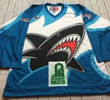 RUSSIAN PRO HOCKEY SHARK JERSEY Soviet CCCP Size 46 Made Russia All Over Print