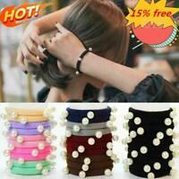10pc Women Girls Hair Band Ties Elastic Rope Ring Hairband Holder Ponytail M5J0