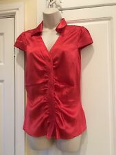 Trinny And Susannah Top, Red, 96% Silk, Formal/party/occasion, Size 10