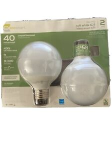 Ecosnart Soft White G25 40W Light Bulb Pack Of 2
