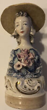 Vintage Cordey Lady with Hat Flowers Bust Figurine Rare.