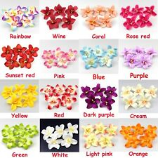 "10/20pcs 3.1"" Artificial Silk Orchid Flower Head Buds Petals Bouquets Craft Home"