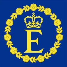 4x4 inch Queen Elizabeth II Flag Sticker - decal insignia crest coat uk england