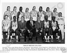 1966-67 BOSTON CELTICS NBA BASKETBALL 8X10 TEAM PHOTO