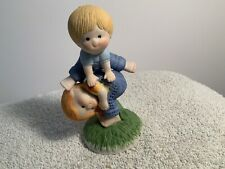 Enesco Country Cousins: Katie and Scooter playing leap frog! 1981