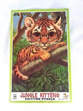 Gig Keane Jungle Kittens Picture Jig Saw Puzzle Siberian Tiger