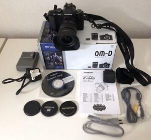 Olympus OM-D E-M5 16MP Digital Camera M.Zuiko Digital Lens ED 12-50mm and Flash.