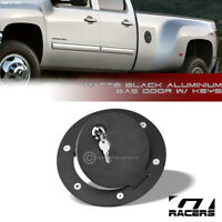 For 2007-2014 Chevy Silverado/GMC Sierra Matte Blk Aluminum Fuel Gas Door Cover